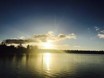 Συναρπαστικό ηλιοβασίλεμα στο Σιάτλ Στοκ Εικόνες