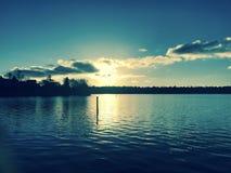 Συναρπαστικό ηλιοβασίλεμα στο Σιάτλ Στοκ φωτογραφία με δικαίωμα ελεύθερης χρήσης