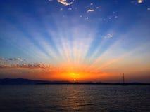 Συναρπαστικό ηλιοβασίλεμα Στοκ φωτογραφίες με δικαίωμα ελεύθερης χρήσης