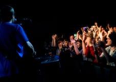συναυλία ακροατηρίων Στοκ φωτογραφία με δικαίωμα ελεύθερης χρήσης