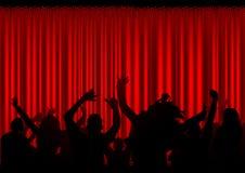 συναυλία ακροατηρίων διανυσματική απεικόνιση