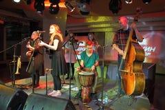 Συναυλία ζωντανής μουσικής Στοκ Εικόνες