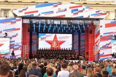 Συναυλία στο τετράγωνο παλατιών στην Αγία Πετρούπολη στοκ εικόνες