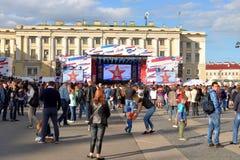 Συναυλία στο τετράγωνο παλατιών στην Αγία Πετρούπολη στοκ φωτογραφίες