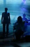 Συναυλία Carreira Tony - μουσικός και χορωδίες στοκ φωτογραφία