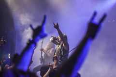 Συναυλία βράχου βαρύ μετάλλου Στοκ Φωτογραφία