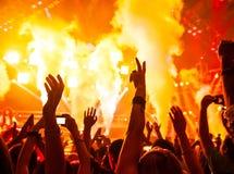 Συναυλία βράχου Στοκ Εικόνες