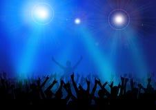 Συναυλία-διάνυσμα βράχου ελεύθερη απεικόνιση δικαιώματος