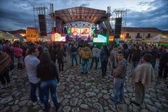Συναυλία νύχτας Villa de Leyva στη γιορτή Στοκ Φωτογραφίες