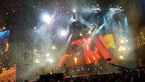 Συναυλία πυροβόλων όπλων και τριαντάφυλλων, Μπιλμπάο, Ισπανία Στοκ Εικόνες