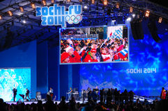 Συναυλία σε ΧΧΙΙ χειμερινούς Ολυμπιακούς Αγώνες Sochi 2014 στοκ εικόνες