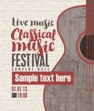 Συναυλία της κλασσικής ζωντανής μουσικής απεικόνιση αποθεμάτων