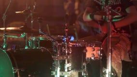 Συναυλία τυμπάνων μουσικής οδών απόθεμα βίντεο