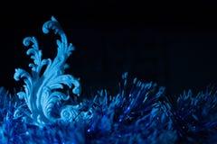 Συναυλία Χριστουγέννων με τα μπλε εξαρτήματα Στοκ φωτογραφία με δικαίωμα ελεύθερης χρήσης