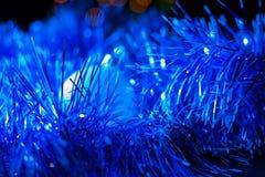 Συναυλία Χριστουγέννων με τα μπλε εξαρτήματα Στοκ εικόνες με δικαίωμα ελεύθερης χρήσης