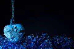 Συναυλία Χριστουγέννων με τα μπλε εξαρτήματα Στοκ Εικόνες