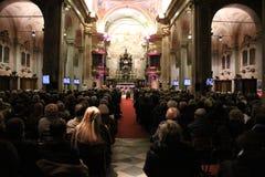 Συναυλία Χριστουγέννων στην πόλη Busto Arsizio Στοκ Εικόνες