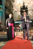 Συναυλία Χριστουγέννων στην πόλη Busto Arsizio Στοκ φωτογραφίες με δικαίωμα ελεύθερης χρήσης