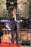 Συναυλία Χριστουγέννων στην πόλη Busto Arsizio Στοκ Φωτογραφία
