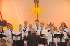 Συναυλία Χριστουγέννων Στοκ Εικόνες