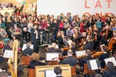 Συναυλία Χριστουγέννων Στοκ εικόνα με δικαίωμα ελεύθερης χρήσης
