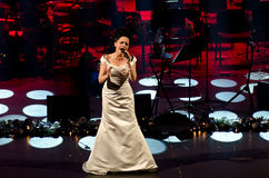 Συναυλία Χριστουγέννων - Lucie Bila Στοκ Φωτογραφία