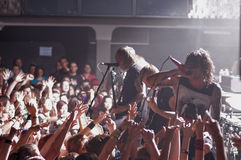 Συναυλία Lucerna Musicbar Πράγα 17 Blessthefall Στοκ Εικόνες