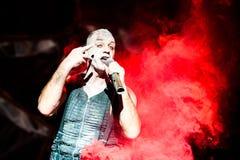Συναυλία Rammstein Στοκ φωτογραφία με δικαίωμα ελεύθερης χρήσης