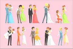 Συνδέει το γάμο διανυσματική απεικόνιση