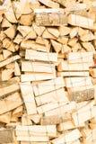 Συνδέεται ένα ναυπηγείο ξυλείας Στοκ Εικόνες