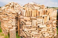 Συνδέεται ένα ναυπηγείο ξυλείας Στοκ Φωτογραφία