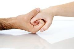 συνδέοντας χέρι Στοκ φωτογραφία με δικαίωμα ελεύθερης χρήσης