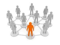 Συνδέσεις ανθρώπων. Μοναδικός, ηγεσία. απεικόνιση αποθεμάτων