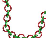 συνδέσεις Χριστουγέννων αλυσίδων Στοκ φωτογραφία με δικαίωμα ελεύθερης χρήσης