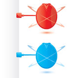 συνδέσιμο προωθητικό διάνυσμα σημαδιών απεικόνιση αποθεμάτων