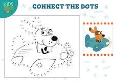 Συνδέστε τη διανυσματική απεικόνιση παιχνιδιών παιδιών σημείων Προσχολική δραστηριότητα εκπαίδευσης παιδιών διανυσματική απεικόνιση
