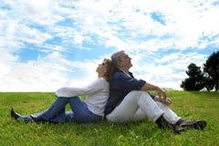 συνδέστε τον ευτυχή πρε&sig Στοκ φωτογραφία με δικαίωμα ελεύθερης χρήσης
