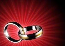 Συνδεδεμένα δαχτυλίδια Στοκ εικόνες με δικαίωμα ελεύθερης χρήσης
