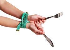 συνδεδεμένα χέρια tablewares Στοκ Εικόνα