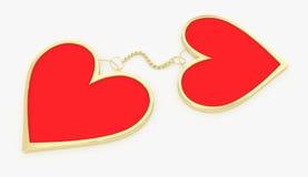 συνδεδεμένες καρδιές Στοκ Εικόνες