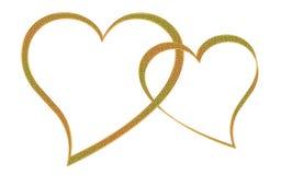 συνδεδεμένες καρδιές Στοκ Εικόνα