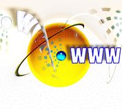 συνδεδεμένη αλληλοσυνδετικότητα Διαδίκτυο Στοκ Φωτογραφία