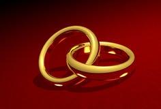 συνδεμένος γάμος δαχτυ&lam απεικόνιση αποθεμάτων