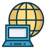 Συνδεμένος με Διαδίκτυο απομόνωσε το διανυσματικό εικονίδιο που μπορεί εύκολα να τροποποιήσει ή να εκδώσει ελεύθερη απεικόνιση δικαιώματος