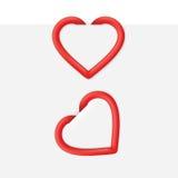 Συνδετήρας σελίδων καρδιών Στοκ εικόνα με δικαίωμα ελεύθερης χρήσης