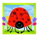 συνδετήρας τέχνης cartoonish ladybug Στοκ Φωτογραφίες