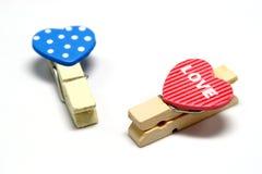 Συνδετήρες καρδιών Στοκ εικόνα με δικαίωμα ελεύθερης χρήσης