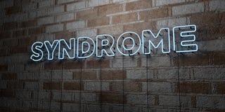 ΣΥΝΔΡΟΜΟ - Καμμένος σημάδι νέου στον τοίχο τοιχοποιιών - τρισδιάστατο δικαίωμα ελεύθερη απεικόνιση αποθεμάτων διανυσματική απεικόνιση