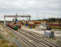 Συνδυασμένος σταθμός φορτίου στη Γερμανία στοκ φωτογραφία με δικαίωμα ελεύθερης χρήσης