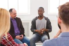 Συνεδρίαση της ομάδας στήριξης, σύνοδος θεραπείας στοκ εικόνα με δικαίωμα ελεύθερης χρήσης